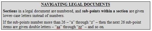 Navigating Legal Documents