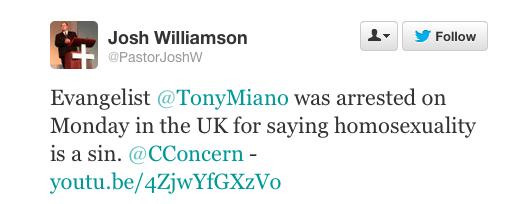 Tony Miano arrest, Street Preacher, Persecution Screen Shot 2014-01-13 at 1.15.03 PM