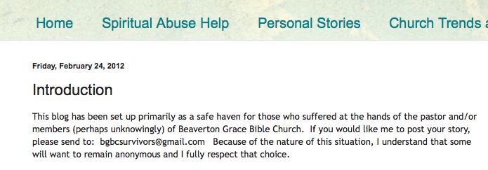Beaverton Grace Bible Church, Chuck O'Neal, Spiritual Sounding Board Screen Shot 2014-02-24 at 10.51.09 AM