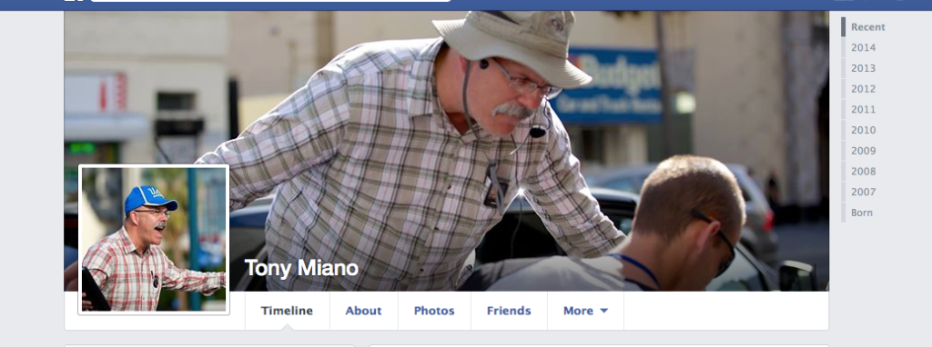 Tony Miano's Facebook cover and profile photo
