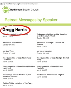 Harris as a featured speaker at John Piper's Bethlehem Baptist Church.