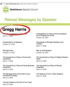 Harris as a featured speaker at John Piper's Bethlehem Baptist Church.