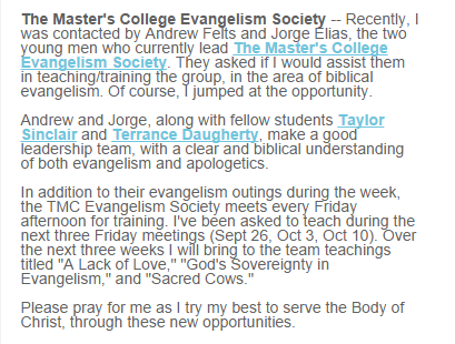 Tony  Miano, John MacArthur, The Master's College