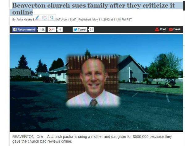 lawsuits chuck O'neal beaverton grace bible church