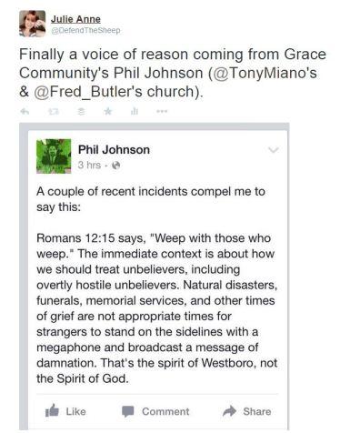 Phil Johnson, Tony Miano, Westboro, Nepal Earthquake, Grace Community Church