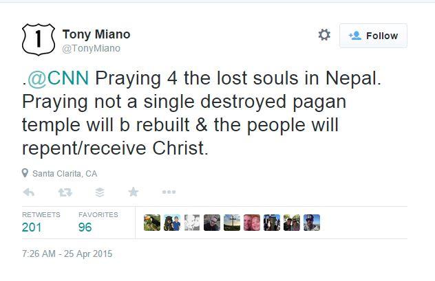 tony miano nepal earthquake