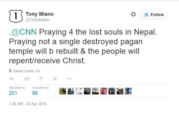 tony miano nepal earthquake