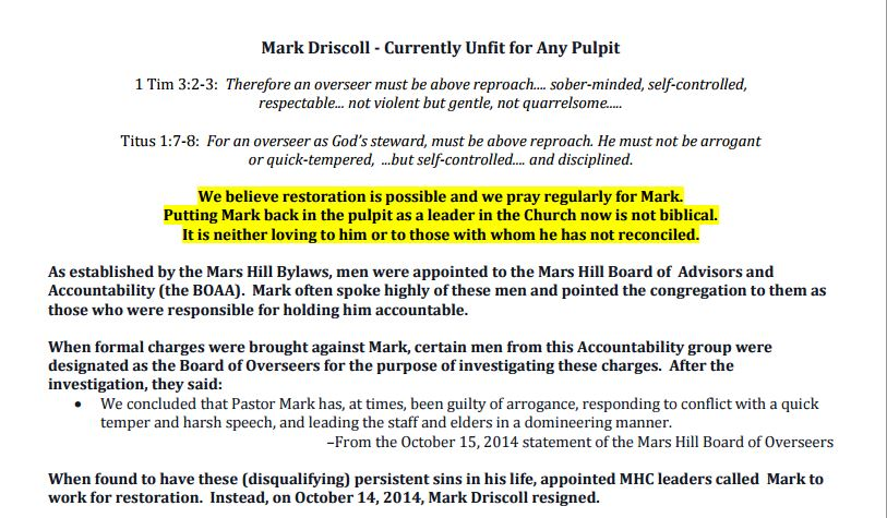 Mark driscoll pdf Warren Throckmorton, Mars Hill, Gold Creek, Pastor Dan kellogg