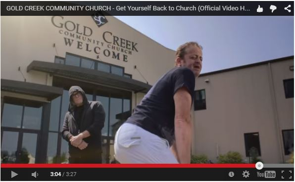 Twerking outside of church