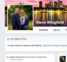 Pastor Steve Wingfield, First Christian Church of Florissant