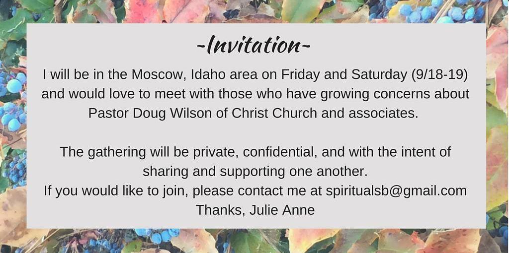 doug wilson, crec, christ church