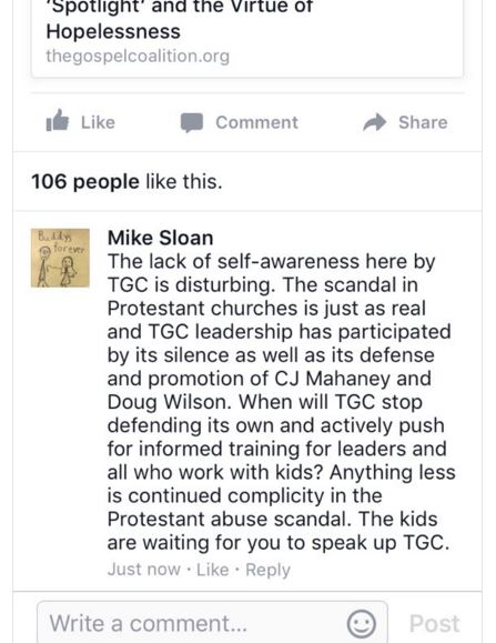 TGC, the gospel coalition, sex abuse cover-up, spotlight, cj mahaney, sovereign grace ministries sex abuse