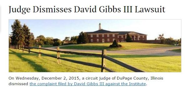 IBLP sex abuse lawsuit, Bill Gothard, David C. Gibbs III
