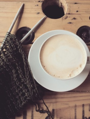 coffe and knitting