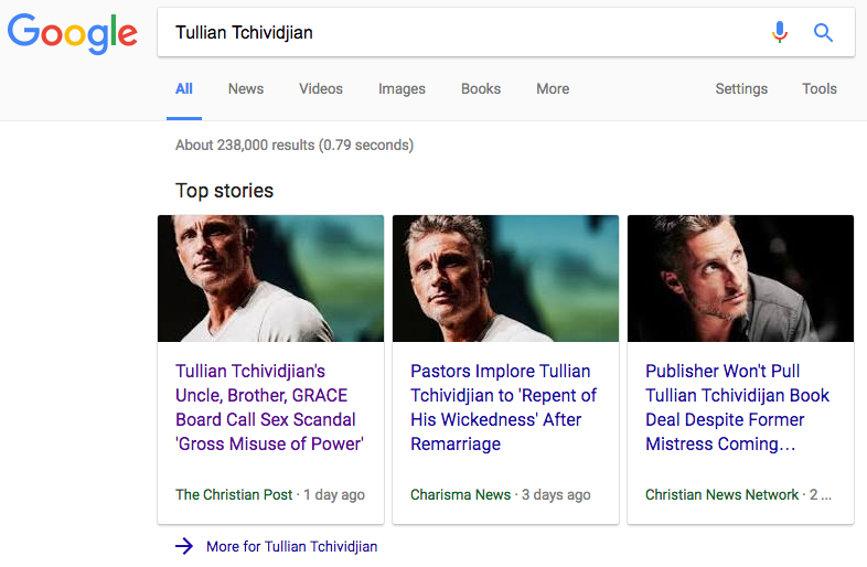 Tullian Tchividjian, Clergy Sex Abuse
