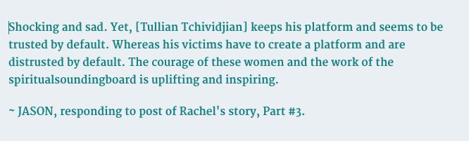 Tullian Tchividjian, Spiritual Sounding Board, abuse, language