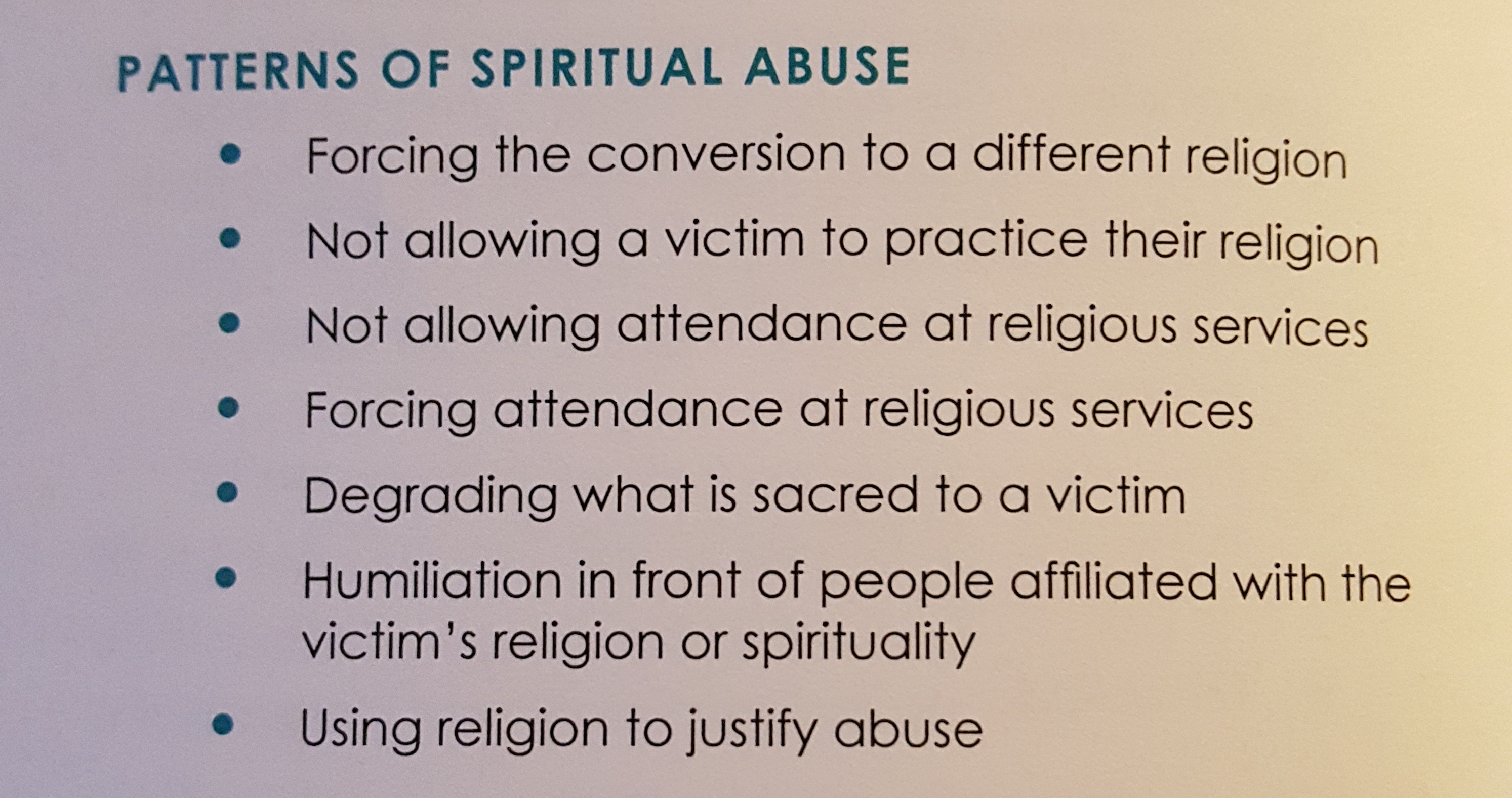 The Dynamics of Spiritual Abuse Within Domestic Abuse